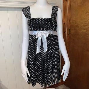 XOXO's Flirty, Black and White Party Dress
